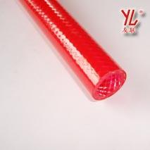 pvc内透明外红纤维管