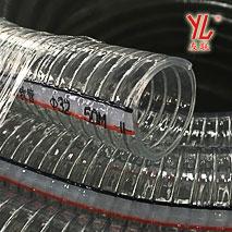 潍六耐磨耐候透明钢丝管